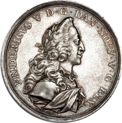 Medal - Frederik V (House of Oldenburg Anniversary; Royal Trading Co.) – obverse