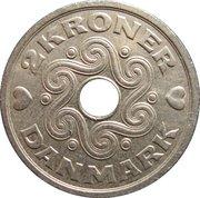 2 Kroner - Margrethe II -  reverse