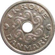 1 Krone - Margrethe II -  reverse
