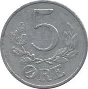 5 Øre - Christian X (German Occupation) -  reverse