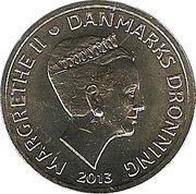 20 Kroner - Margrethe II - H. C. Ørsted & Electromagnetism -  obverse