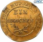 1 Grosz - Friedrich Wilhelm III (Trial Strike) – reverse