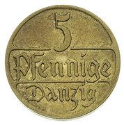5 Pfennige (Trial Strike) – reverse