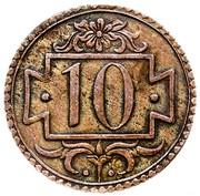 10 Pfennig (no date) – reverse