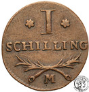 1 Schilling - Marshal Lefebvre (French Occupation) – reverse