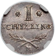 1 Schilling - Marshal Lefebvre (French Occupation, Trial Strike) – reverse