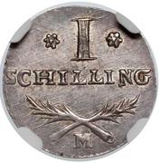 1 Schilling - Marshal Lefebvre (French Occupation Ag) – reverse
