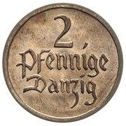 2 Pfennige – reverse