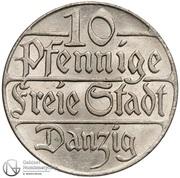 10 Pfennige – reverse