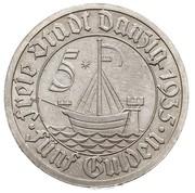 5 Gulden -  reverse