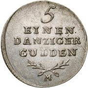1/5 Gulden - Marshal Lefebvre (French Occupation, Trial Strike) – reverse