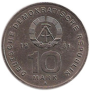 10 Mark (National Peoples Army) – obverse