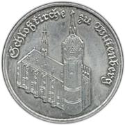 5 Mark (Wittenberg Church) – reverse