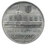 5 Mark (Leipzig Old City Hall) – reverse