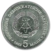 5 Mark (Max Planck) – obverse