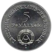 5 Mark (Adolf Freiherr von Lützow) – obverse
