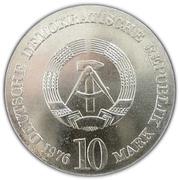 10 Mark (Carl Maria von Weber) – obverse
