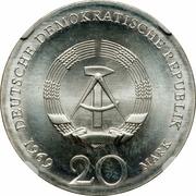 20 Mark (Johann Wolfgang von Goethe) – obverse