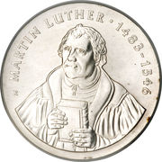 20 Mark (Martin Luther) – reverse