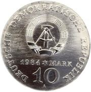 10 Mark (Alfred Brehm) – obverse
