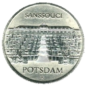 5 Mark (Sanssouci Palace of Potsdam) – reverse