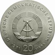 20 Mark (Karl Liebknecht & Rosa Luxemburg) – obverse