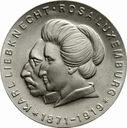 20 Mark (Karl Liebknecht & Rosa Luxemburg) – reverse