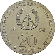 20 Mark (Georg Friedrich Händel) – obverse