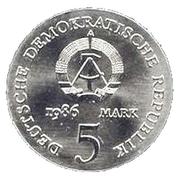 5 Mark (Heinrich von Kleist) – obverse