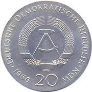 20 Mark (Gottfried Wilhelm Leibniz) – obverse