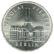 5 Mark (750 years of Berlin - Nikolaiviertel) – reverse