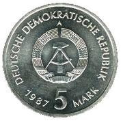 5 Mark (750 years of Berlin - Nikolaiviertel) – obverse