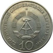 10 Mark (Buchenwald Memorial) – obverse