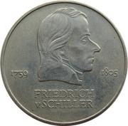 20 Mark (Friedrich von Schiller) – reverse