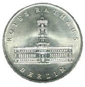 5 Mark (750 years Berlin - Rotes Rathaus) – reverse