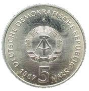 5 Mark (750 years Berlin - Alexanderplatz) – obverse