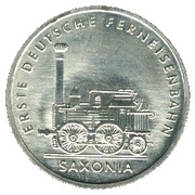 5 Mark (Saxonia Locomotive) – reverse