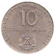 10 Mark (USSR-GDR joint flight) – obverse