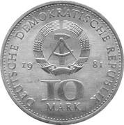10 Mark (700 Years Berlin Mint) – obverse