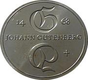 10 Mark (Johann Gutenberg) – reverse