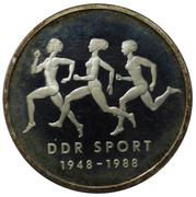 10 Mark (East German Sports; Probe) – reverse