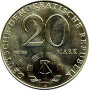 20 Mark (30 Years of DDR - Probe) – obverse