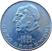 20 Mark (Otto Grotewohl) – reverse