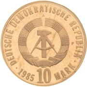 10 Mark (Liberation from Fascism) -  reverse