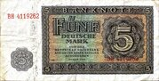 5 Deutsche Mark – obverse