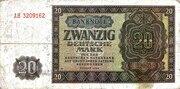 20 Deutsche Mark – obverse