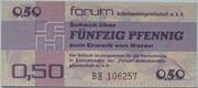 50 Pfennig (Forum-Scheck) – obverse