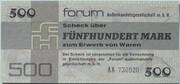 500 Mark (Forum-Scheck) – obverse