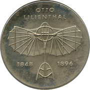 5 Mark (Otto Lilienthal) – reverse