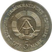 5 Mark (Friedrich Gottlieb Klopstock) – obverse